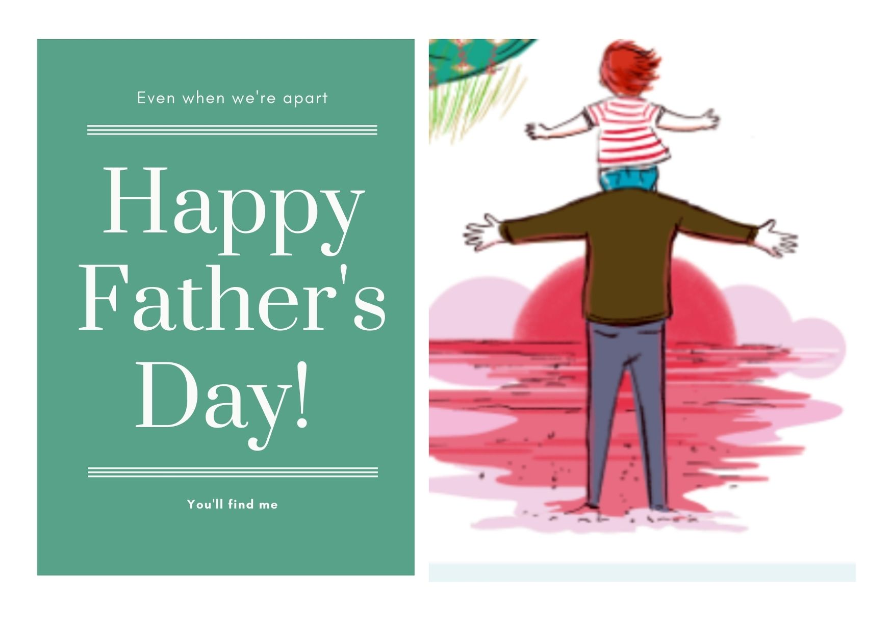 Orange Bordered Fathers Day Card